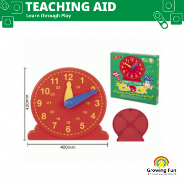 Gigo Teaching Aid Magnetic Teaching Clock (Standing)