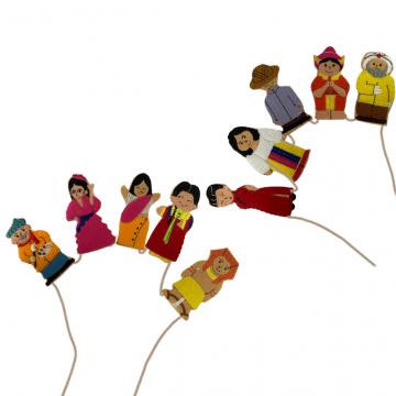 King Dam Felt Finger Puppets - People Of The World I