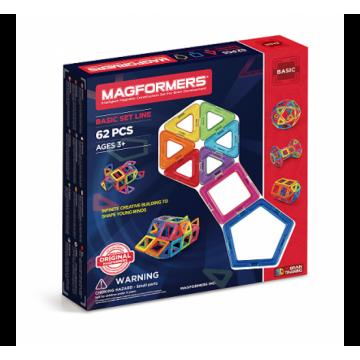 Magformers - Basic Set Line (62 Pieces)