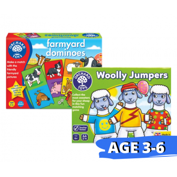 Orchard Toys Matching Game - Farmyard Dominoes and Woolly Jumpers