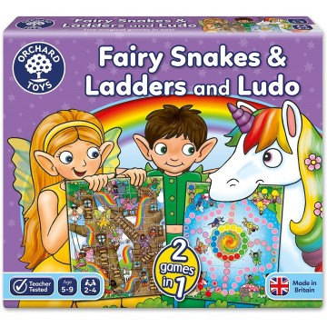 Orchard Toys - Fairy Snakes and Ladders and Ludo