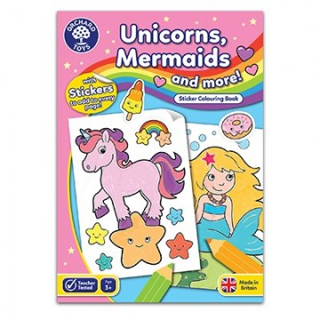 Orchard Toys - Unicorns, Mermaids and More Colouring Book | Age 3+