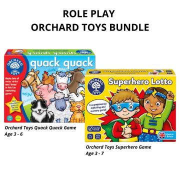 1_Orchard Toys Bundle Quack Quack and Superhero Lotto Game