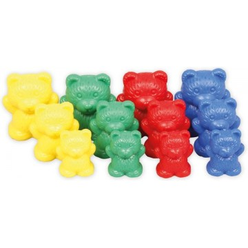 96pcs Rainbow Colour Sorting Counting Bears Counters