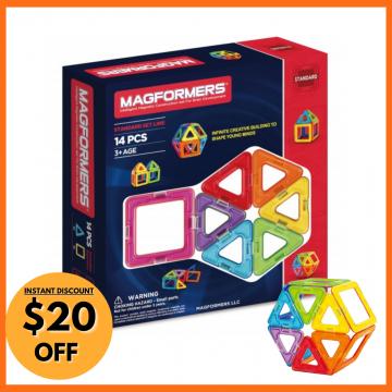9_Magformers - Basic Set Line (14 Pieces)
