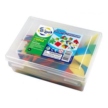 Gigo Teaching Aid Plastic Tangram (set of 15)
