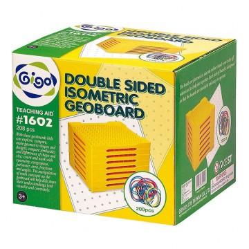 Gigo Double Sided 11x11 Isometric Geoboard (set of 8)