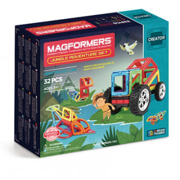 Magformers - Jungle Adventure Set (32pcs), magnetic toy
