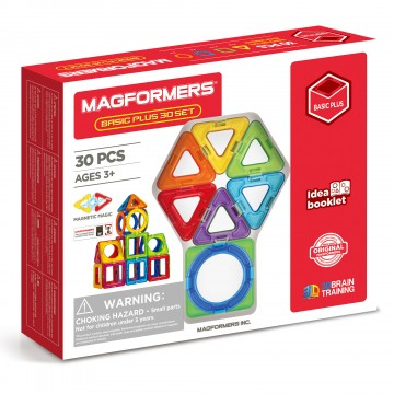 Magf-715015-Magformers - Basic Plus Set (30 piece)