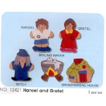 King Dam Felt Finger Puppets - Hansel & Gretel storytelling