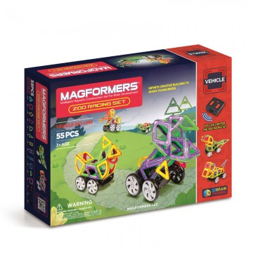 Magformers - Zoo Racing Set (55 pcs), magnetic toy