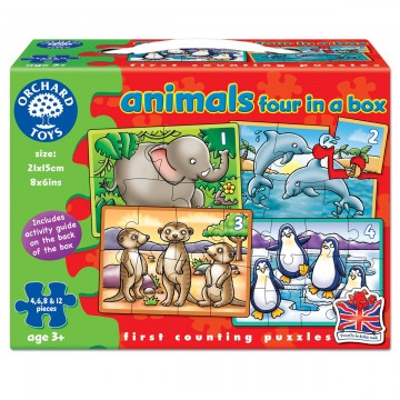 Orchard Toys Early Learning Puzzle - Animals Four in a Box