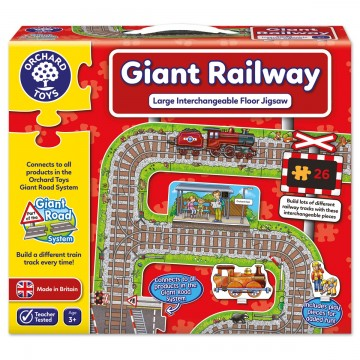 Orchard Toys Giant Road System - Giant Railway Jigsaws
