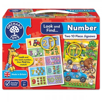 Orchard Toys Look and Find Jigsaw – Number